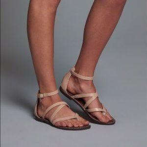 Sam Edelman Gilroy 6.5  Nude Gladiator Sandal